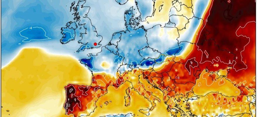 Teplotná odchýlka od dlhodobého normálu