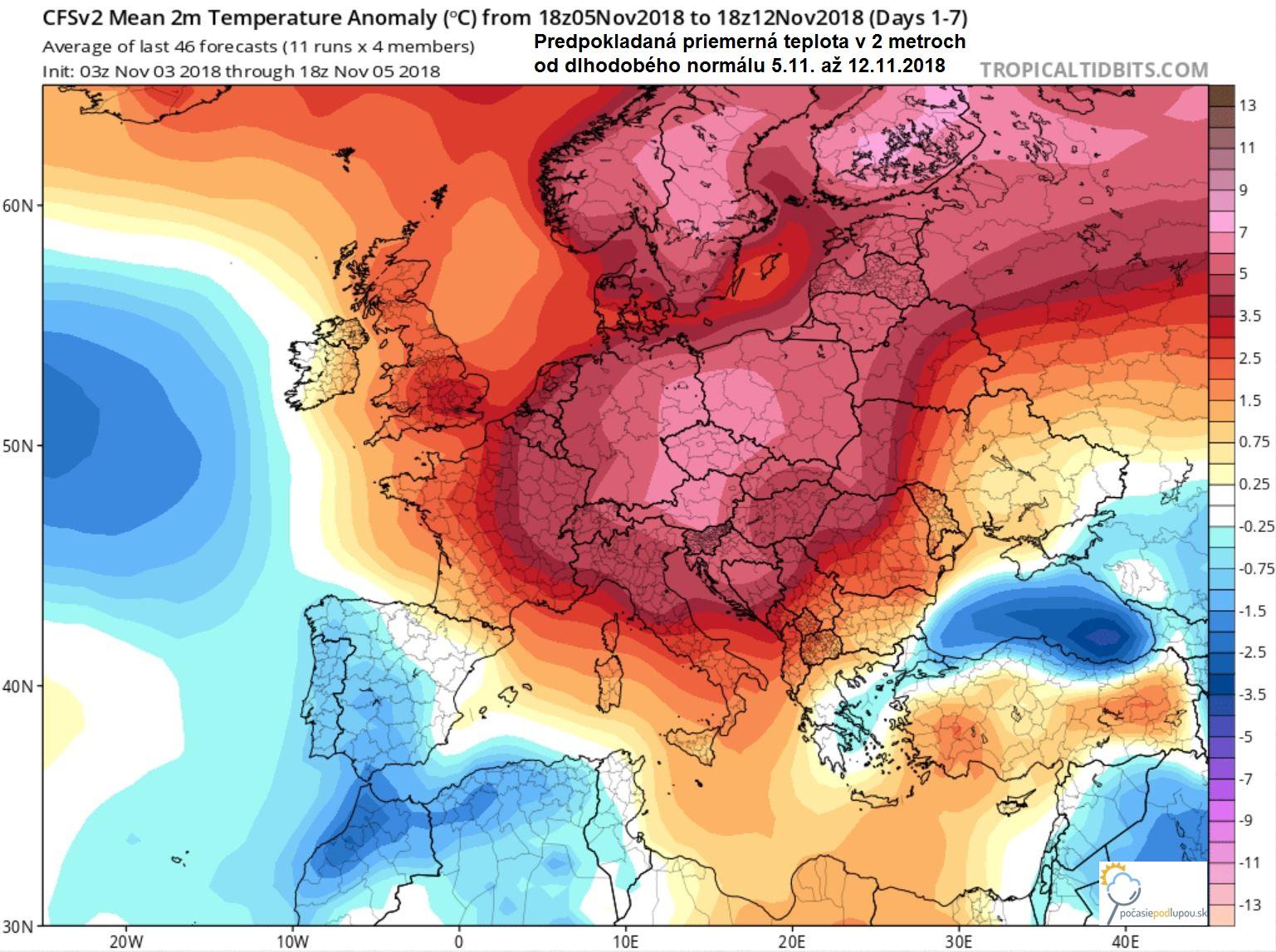 51f547ac4 ... minimálne do 15.novembra nás nečaká prakticky žiadna výraznejšia zmena  v počasí. Ako môžete vidieť aj na prvom obrázku na nasledujúcich 7 dní  dopredu, ...