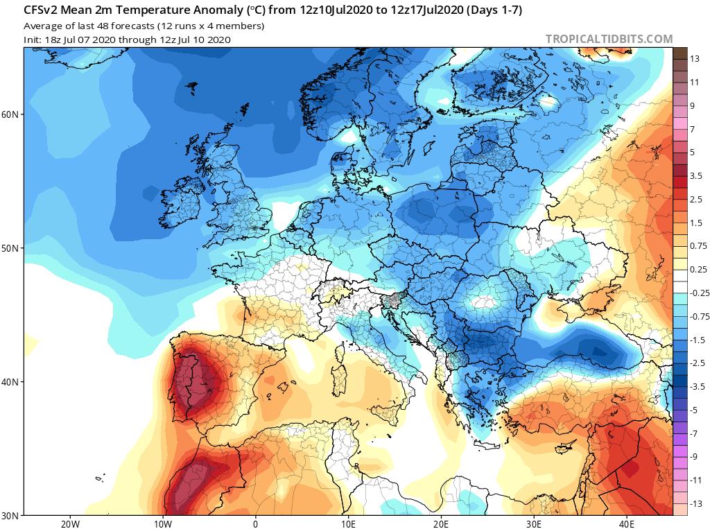 Predpokladané výkyvy počasia v Európe a peľové spravodajstvo